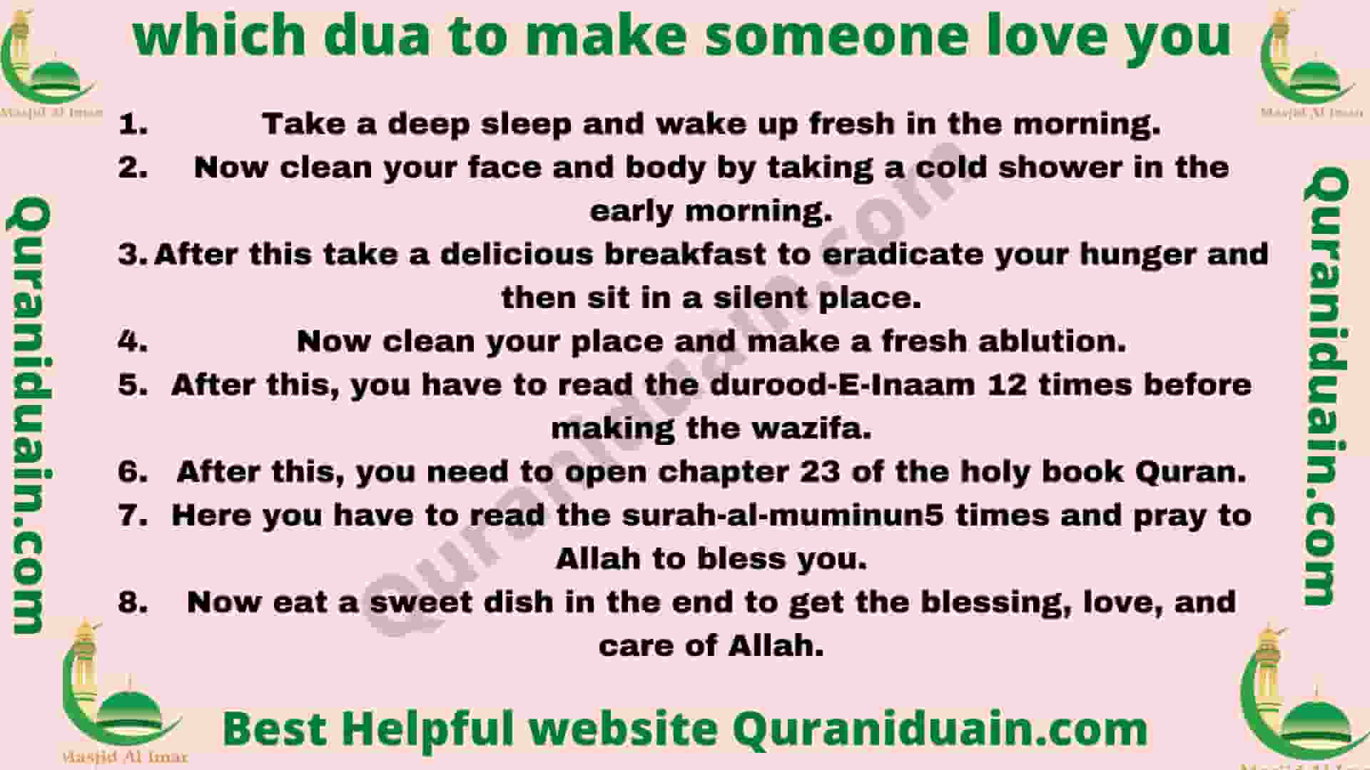 Qurani Duain To make Somone Fall In Love With You
