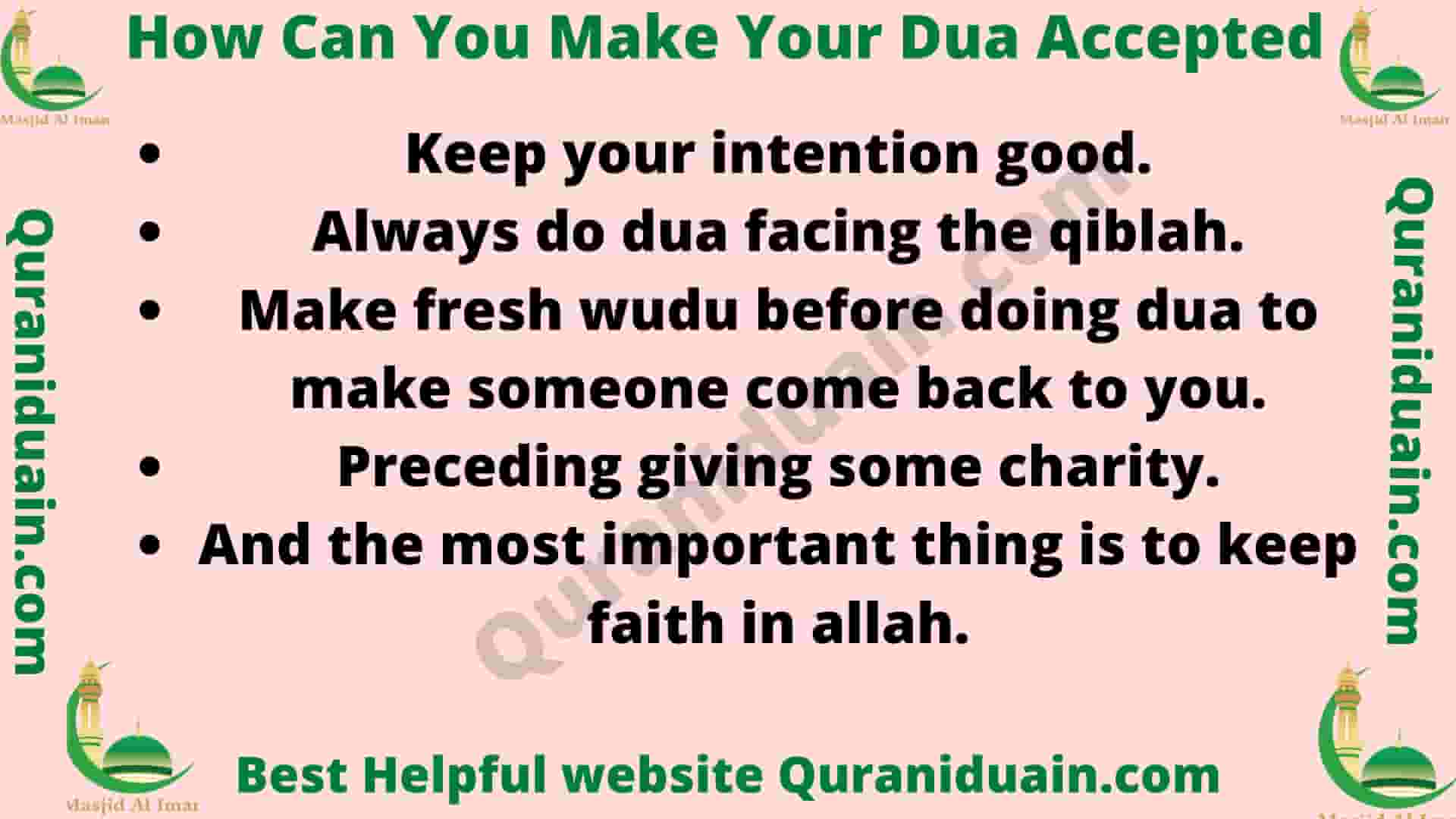 How Can You Make Your Dua Accepted