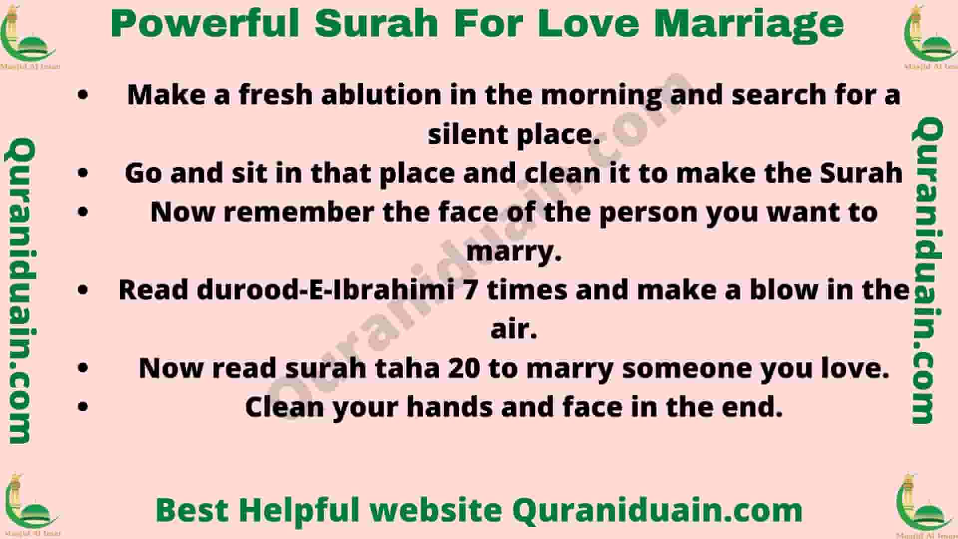 Powerful Surah For Love Marriage
