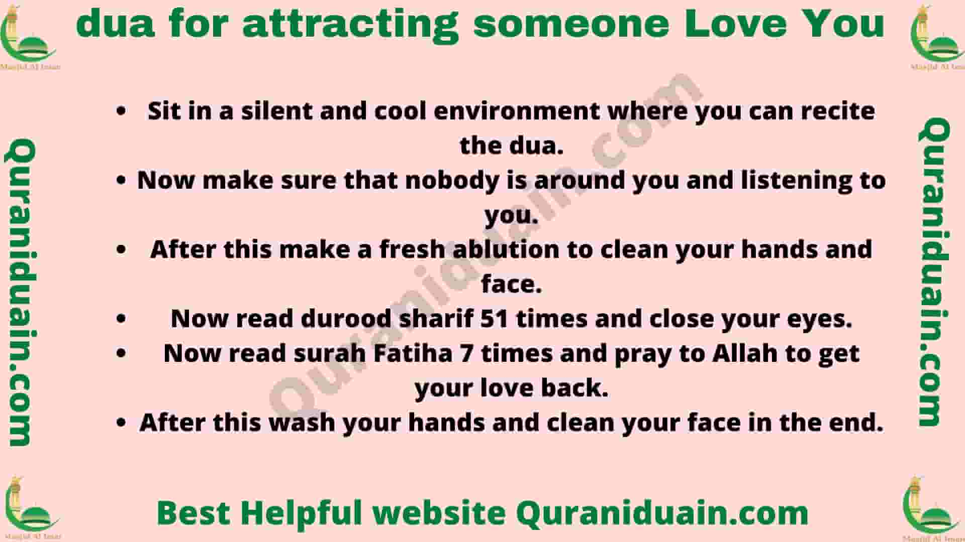 Dua For Attracting Someone