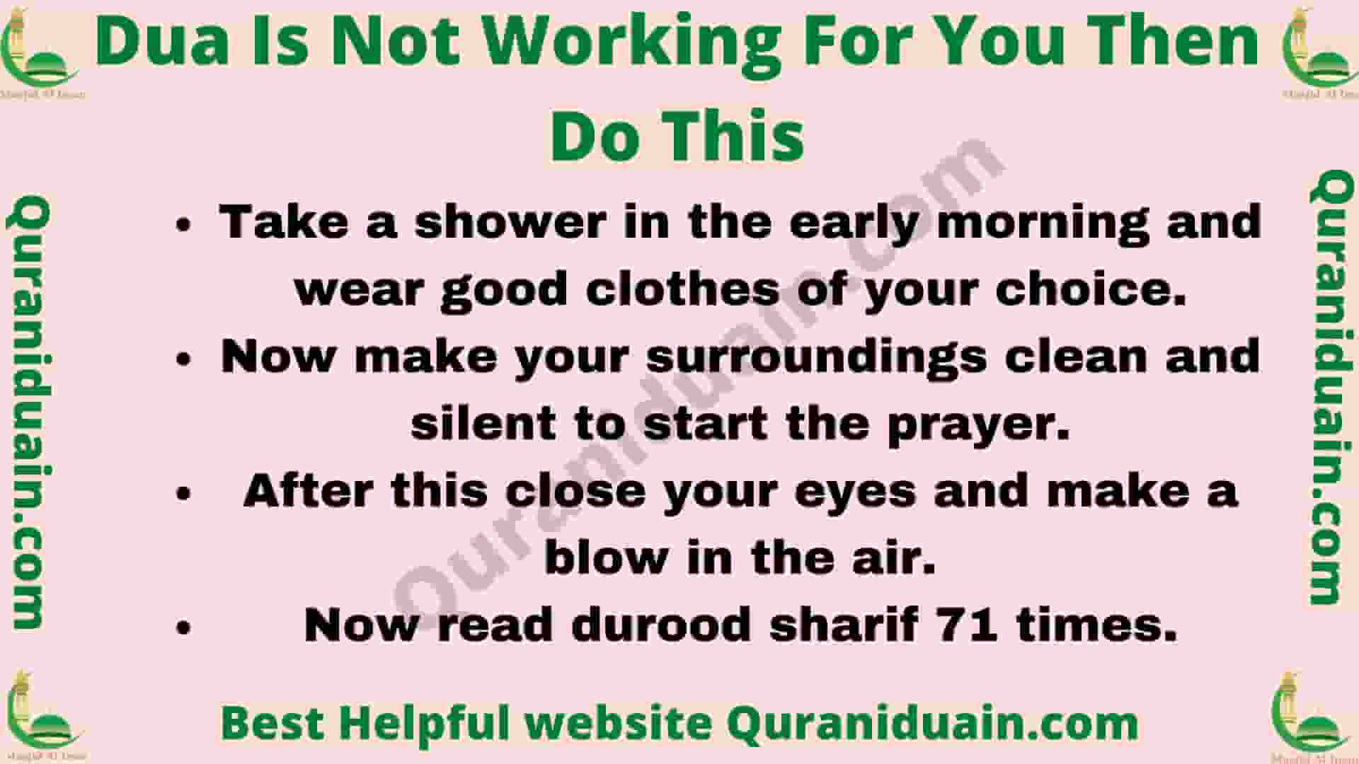 Dua Is Not Working For You Then Do This