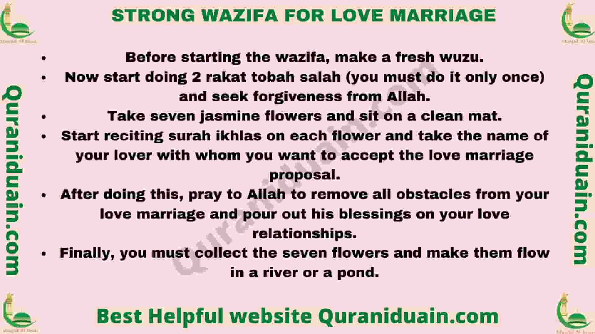 Strong Wazifa For Love Marriage
